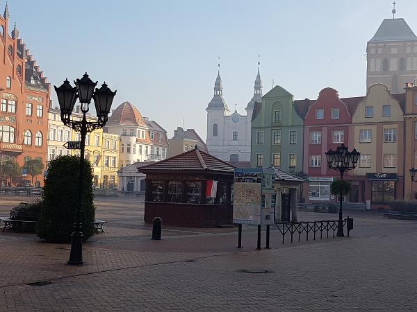 Der Hauptmarkt von Chojnice