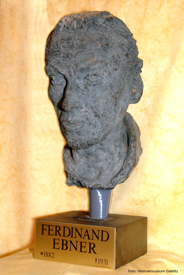 Büste von Ferdinand Ebner von Josef Humplik