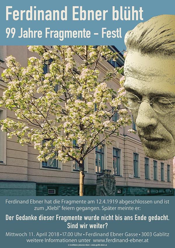 Ferdinand Ebner blüht – 99-Jahre-Fragmente-Festl